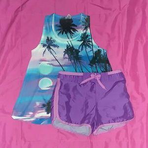 Girls Beach Short Set